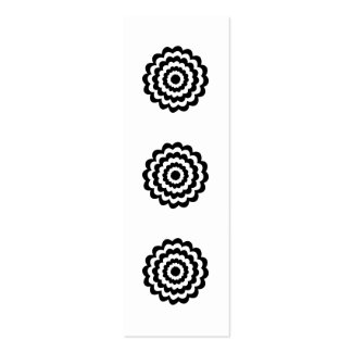 Funky Flower in Black and White. Double-Sided Mini Business Cards (Pack Of 20)