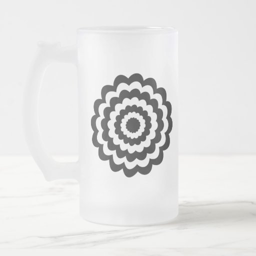 Funky Flower in Black and White. Coffee Mug