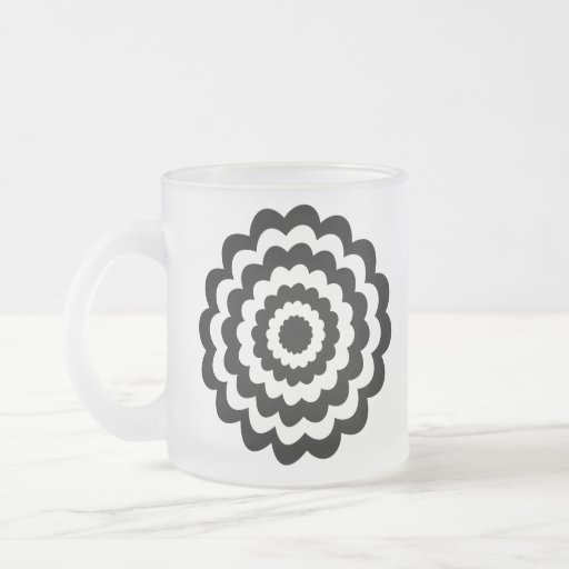 Funky Flower in Black and White. Mugs