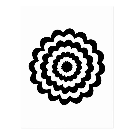 Funky Flower in Black and White. Postcard
