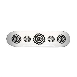 Funky Flower in Black and White. Skateboard Decks