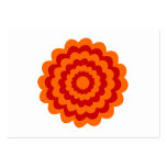 Funky Flower in Orange and Red. Business Card Template