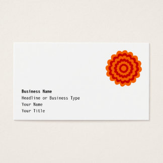 Funky Flower in Orange and Red. Business Card