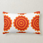 Funky Flower in Orange and Red. Pillow