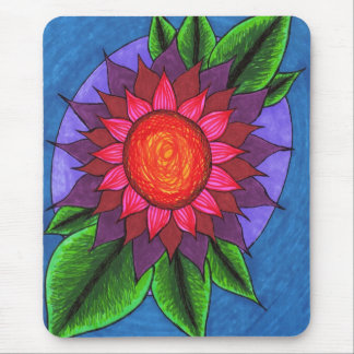 """""""Funky Flower"""" Mouse Pad"""
