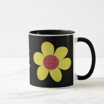 funky flower mug