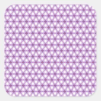 Funky flower pattern square sticker
