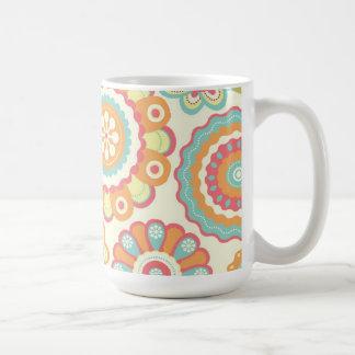 Funky Flowers (Cream) Mug