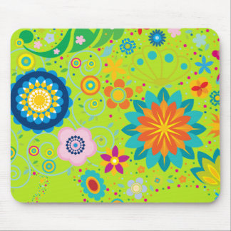 Funky Flowers Mousepads