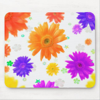 Funky Flowers Mouse Pads