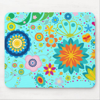 Funky Flowers Mouse Pad