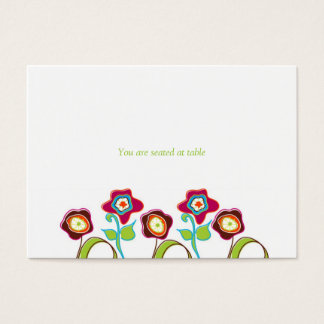 Funky Flowers Place Cards