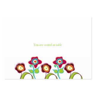 Funky Flowers Place Cards Business Card Template