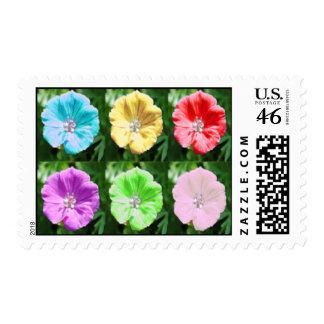 Funky flowers postage
