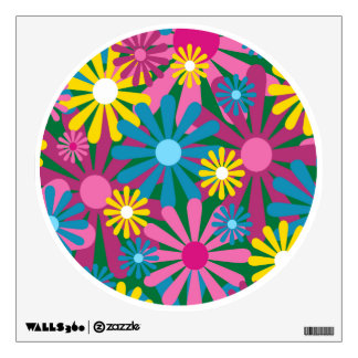 Funky Flowers Wall Decal - Flowers Wall Decal