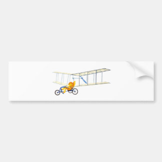 Funky Flying Fish Bumper Sticker