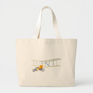 Funky Flying Fish Large Tote Bag