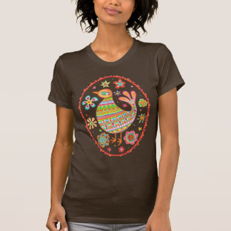Funky Folk Art Bird Shirt
