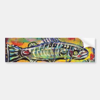 Funky Folk Fish #10 Car Bumper Sticker