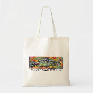 Funky Folk Fish #10 Canvas Bag