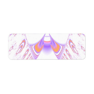 Funky Fractal Pattern. Orange and Purple. Label