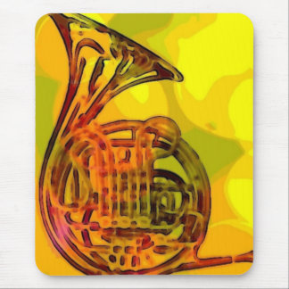 Funky French Horn Mouse Pad