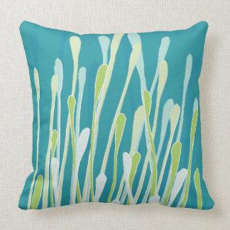 Funky Fresh Grasses Design Pillow