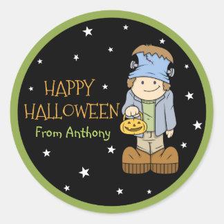 Funky Friends Frankenstein Halloween Sticker