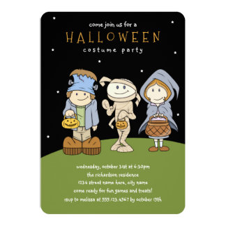 Funky Friends Halloween Party Invitation