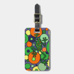 Funky Frog and Bubbles Art Design Travel Bag Tags