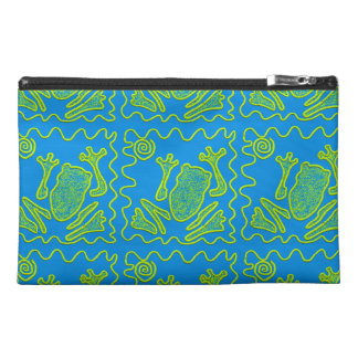 Funky Frog Blue Green Toad Kids Doodle Art Travel Accessories Bag