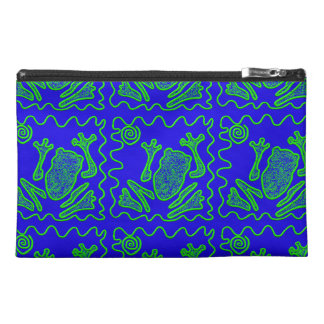 Funky Frog Colorful Toad Kids Doodle Art Gifts Travel Accessory Bags