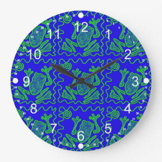 Funky Frog Colorful Toad Kids Doodle Art Gifts Wallclock