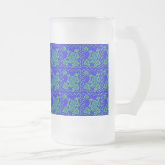 Funky Frog Colorful Toad Kids Doodle Art Gifts Frosted Glass Beer Mug