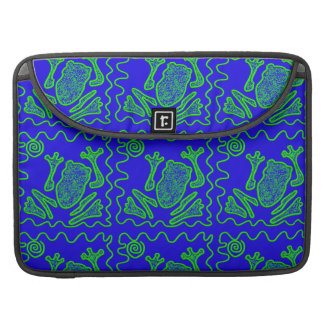 Funky Frog Colorful Toad Kids Doodle Art Gifts MacBook Pro Sleeves