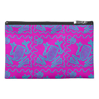 Funky Frog Colorful Toad Kids Doodle Travel Accessory Bags
