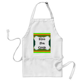 Funky Frog Orange Green Striped Novelty Gifts Adult Apron