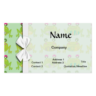 funky froggy frogs business card