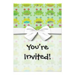 funky froggy frogs custom invites