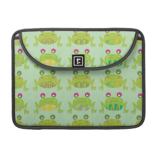 funky froggy frogs sleeve for MacBooks