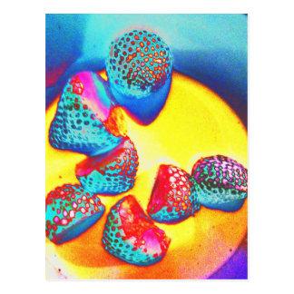 Funky Fruit design by Jane Howarth Postcard