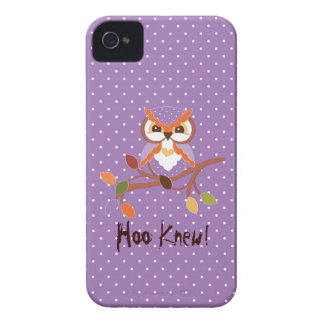 Funky Fun Cool Owl Blackberry Bold 9700/9780 iPhone 4 Case-Mate Cases