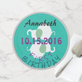 Funky Fun Elephant Bright First Birthday Retro Cake Stand