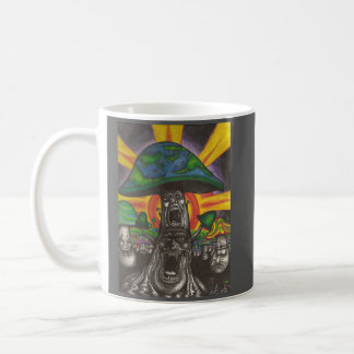 Funky Fungi Frolicking Fancifully at Festival Classic White Coffee Mug