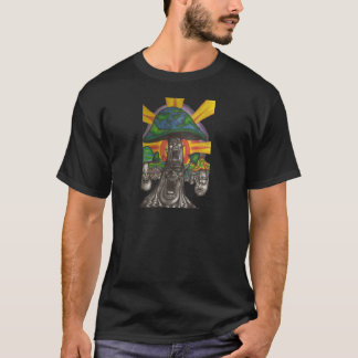 Funky Fungi Frolicking Fancifully on a Shirt