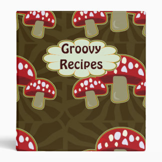 Funky Fungi Mushroom Pattern Binder