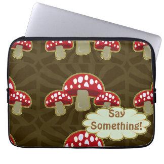 Funky Fungi Mushroom Pattern Laptop Computer Sleeves