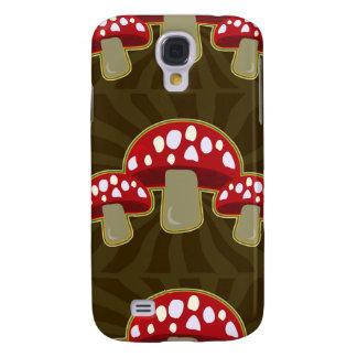 Funky Fungi Mushroom Pattern Samsung Galaxy S4 Covers