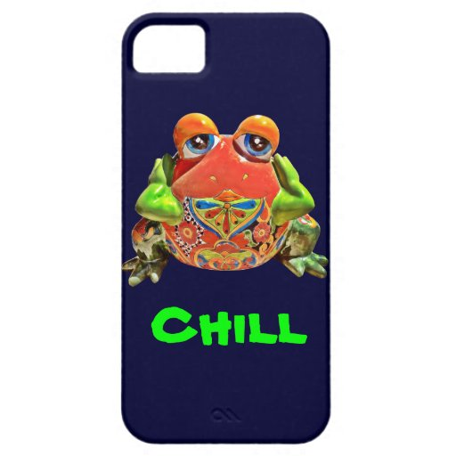 Funky Funny Colorful Frog Chill iPhone 5 Case