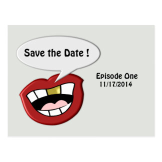 Funky Funny Save the Date Postcard